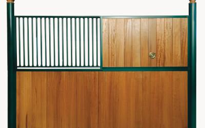 Séparation avec partie supérieurs divisées bois/grille